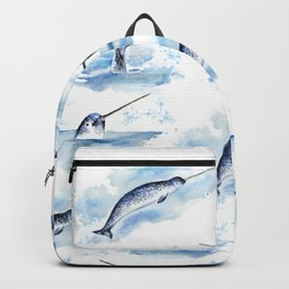 Watercolor Narwhals Backpack
