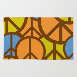 Cool Colorful Groovy Peace Symbols #society6 #decor #buyart #artprint Rug