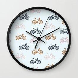 Bike pattern Wall Clock