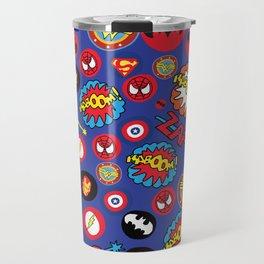 Movie Super Hero logos Travel Mug