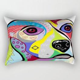 Beagle Close-up Rectangular Pillow