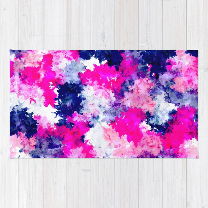 Hand Painted Pink Purple Watercolor Abstract Brushstrokes