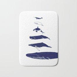 Whale Art - Narwhal / Beluga / Killer Whale Orca / Humpback / Sperm / Blue Bath Mat