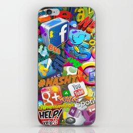 Social Chaos iPhone Skin