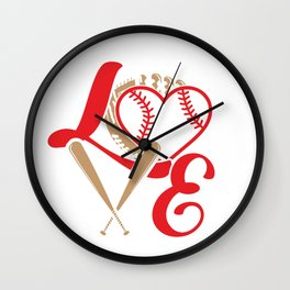 Baseball Lovers Softball Mom Fan Gift Wall Clock