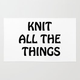 Knit All the Things in Black Transparent Rug
