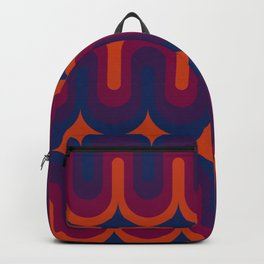 70s Geometric Design - Sunset Swoops Backpack