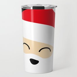 Smiling Santa Face Travel Mug