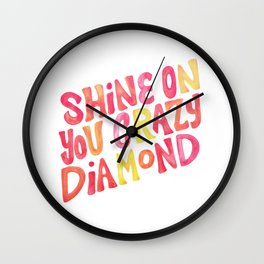Shine On Your Crazy Diamond – Pink & Melon Palette Wall Clock