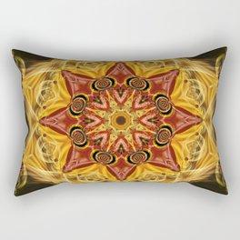 Ruby Fractal Rectangular Pillow