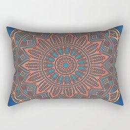 Wooden-Style Mandala Rectangular Pillow