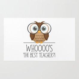 Whoooo's The Best Teacher?! Rug