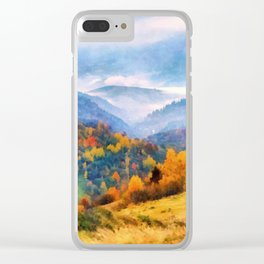 Autumn in the mountains Clear iPhone Case