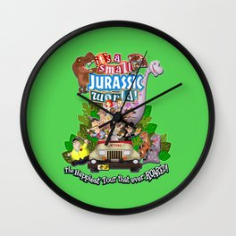It's A Small Jurassic World Wall Clock