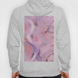 Living Coral and Purple Agate Hoody