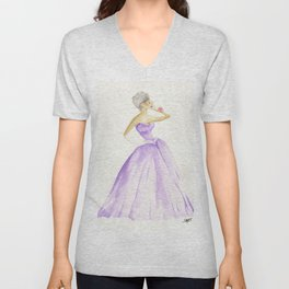 You Cannot Ignore the Color Purple Unisex V-Neck