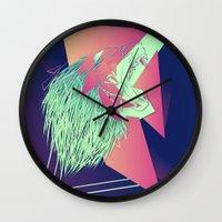 leon Wall Clocks featuring LEON z7 by Edgar Gomez UniverZ7
