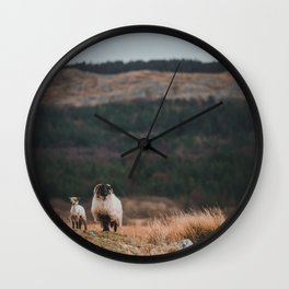 Sheeps at Connemara Wall Clock