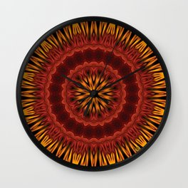 Mandala of Surya the Sun God  Wall Clock