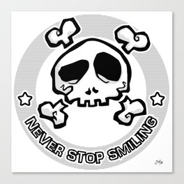 Never Stop Smiling (light) Canvas Print