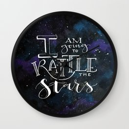 Rattle the S T A R S Wall Clock