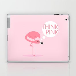 flamingo think pink Laptop & iPad Skin