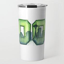 Legion of Boom Seattle 12th Man Art Travel Mug