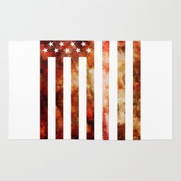 Ice Hockey USA Flag Rug
