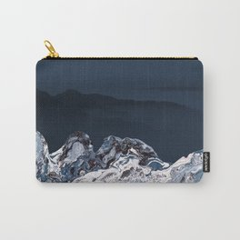BLUE MARBLED MOUNTAINS Carry-All Pouch
