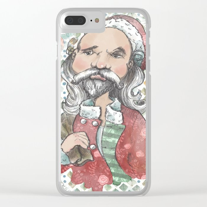 Sad Santa Clear iPhone Case
