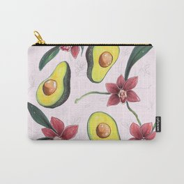 Avocados & Orchids Carry-All Pouch