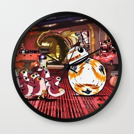 Porg Chase! Wall Clock