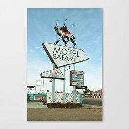 Route 66 - Motel Safari Canvas Print