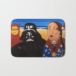 The Devil, Darth vader and Indian Chief Bath Mat