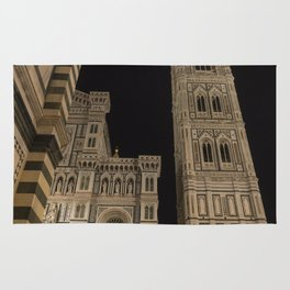 piazza del duomo cathedral square Firenze Tuscany Italy Rug