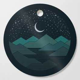 Between The Mountains And The Stars Cutting Board