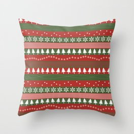 christmass and new year Throw Pillow