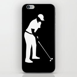 Golf player iPhone Skin