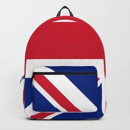 red white and blue trendy london fashion UK flag union jack Backpack
