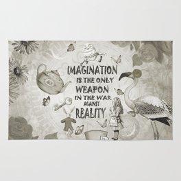 Imagination - Vintage Black & White - Alice In Wonderland Rug