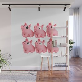 Lucky 6 Rosa the Pig Wall Mural