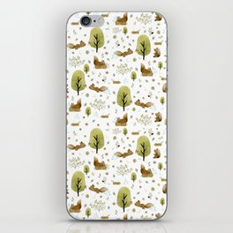 Squirrels in the forest iPhone Skin