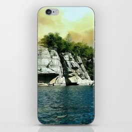 Golden Sky Over the Mountain - Mohonk iPhone Skin