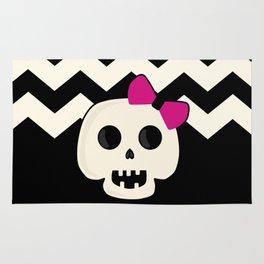 Pink Skeleton Chevron Rug