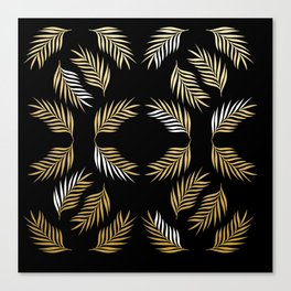 Palm Fronds in Gold Flamour Canvas Print