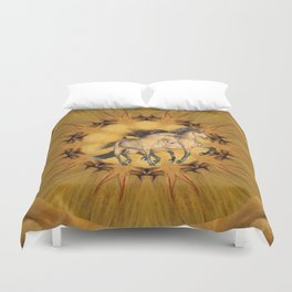HORSES - The Buckskins Duvet Cover