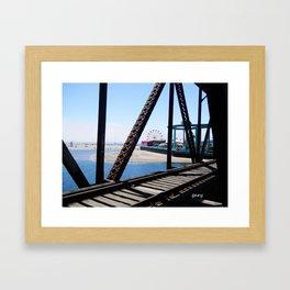 Ferris Wheel Santa Cruz Beach/Boardwalk Framed Art Print