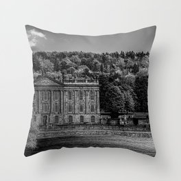 Chatsworth country house Throw Pillow