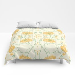 Yellow spring flowers Comforters