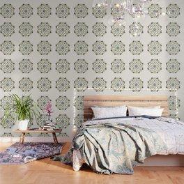 Blackbird Floral Mandala Wallpaper